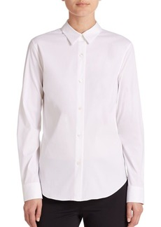 Theory Tenia Luxe Cotton Shirt