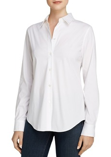 Theory Tenia Luxe Stretch Cotton Top
