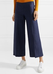 Theory Terena B cropped linen wide-leg pants