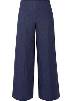 Theory Terena B Cropped Linen Wide-leg Pants