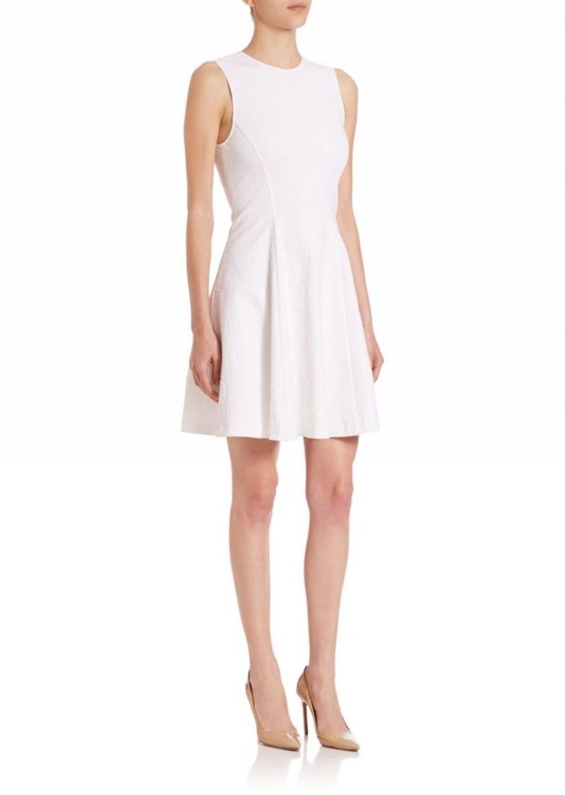 Theory Tespa Knit Floral-Print Dress