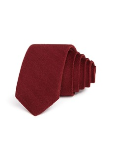 Theory Textured Solid Weave Skinny Tie