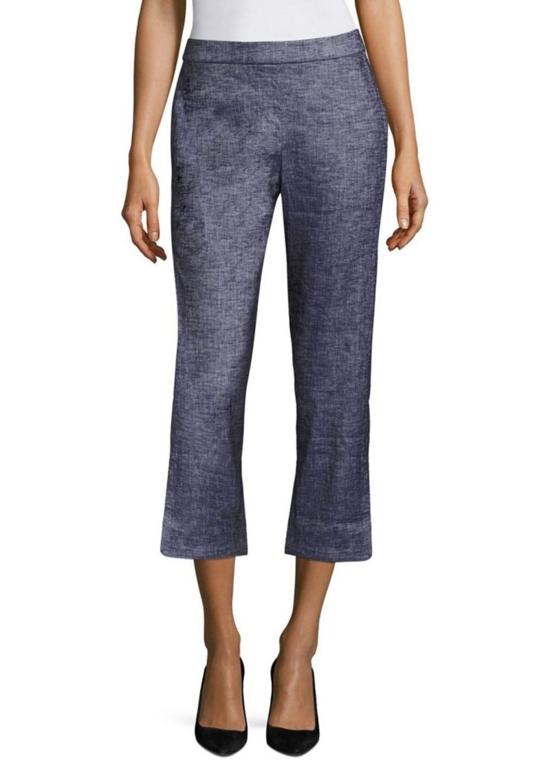 Theory Thorina Cropped Straight-Leg Pants