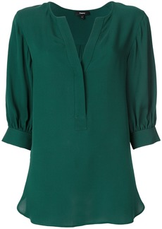 Theory three-quarter sleeve blouse - Green