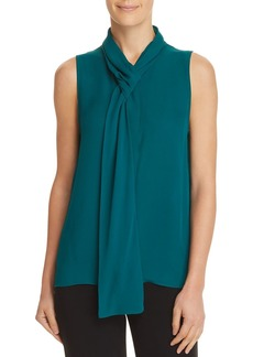 Theory Tie-Neck Silk Top