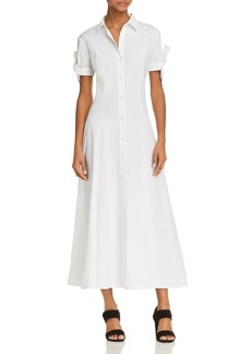 Theory Tie Sleeve Shirt Dress