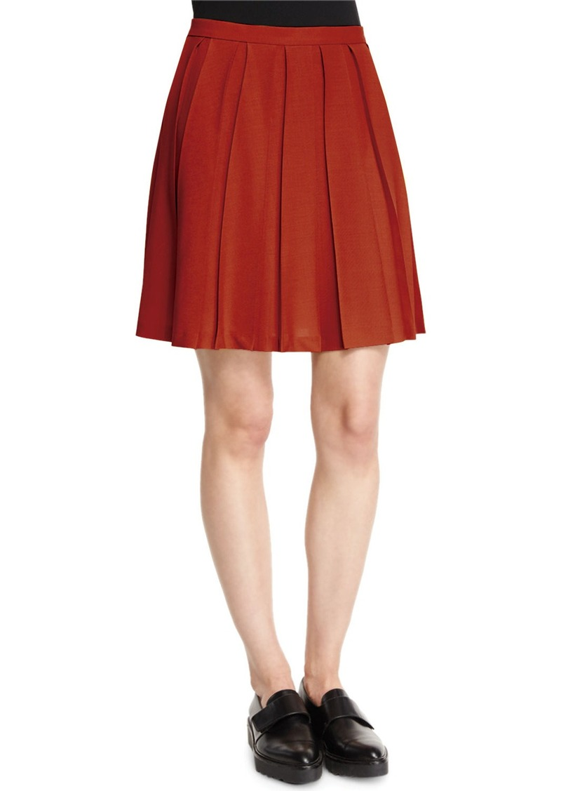 Theory Tillberti Winslow Pleated Crepe Skirt