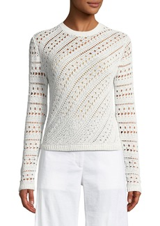 Theory Tissage Crochet Cotton-Blend Sweater