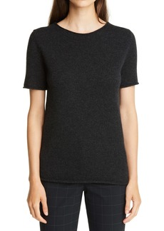 Theory Tolleree Short Sleeve Cashmere Sweater