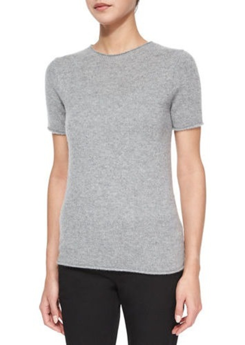 Theory Theory Tolleree Short-Sleeve Cashmere Sweater | Sweaters ...