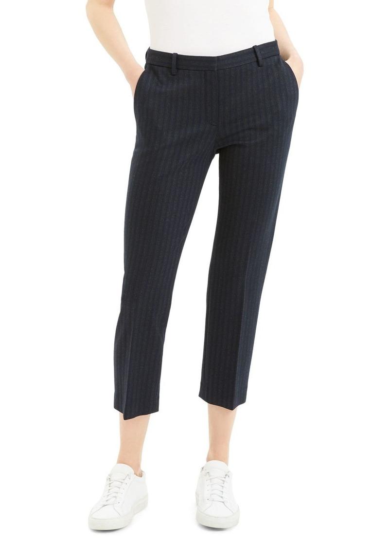 Theory Tonal Pinstripe Cropped Pants