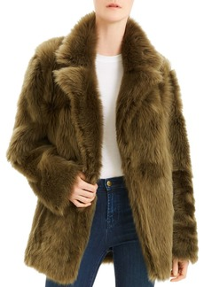 Theory Toscana Reversible Shearling and Leather Coat