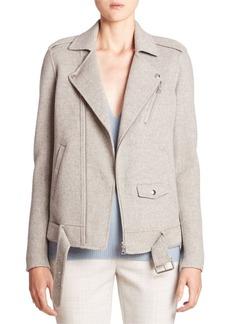 Theory Tralsmin DF Wool & Cashmere Moto Jacket