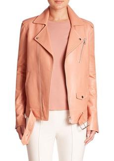 Theory Tralsmin Leather Moto Jacket