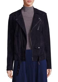 Theory Tralsmin Tidle Suede Moto Jacket