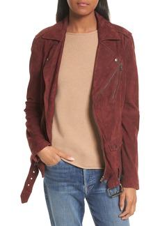 Theory Tralsmin Tidle Suede Notch Collar Jacket