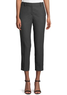 Theory Trecca 2 Straight-Leg New Pure Flannel Cropped Pants
