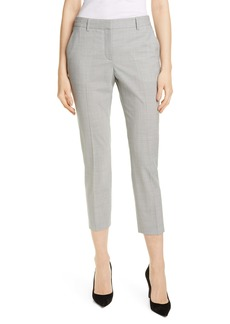 Theory Treeca 2 Houndstooth Check Stretch Wool Trousers