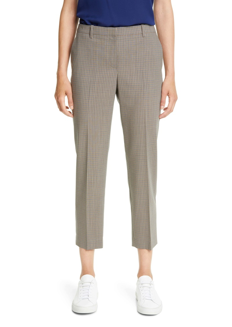 Theory Treeca 4 Plaid Wool Crop Pants
