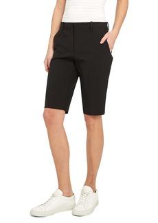 Theory Treeca Linen Blend Bermuda Shorts
