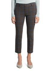 Theory Treeca Plaid Cropped Pants
