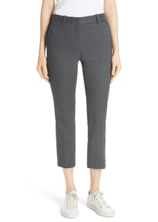 Theory Treeca Shadow Jacquard Slim Crop Pants
