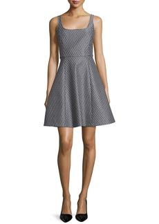 Theory Trekana Patterned A-Line Dress