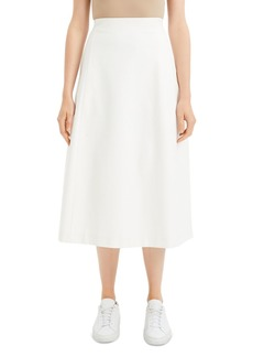 Theory Tulip Midi Skirt