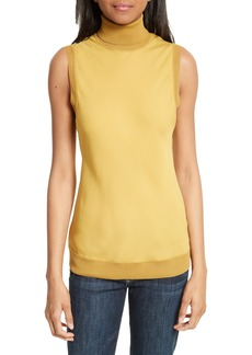 Theory Turtleneck Bias Silk Top