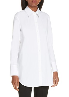Theory Tuxedo Button Front Shirt