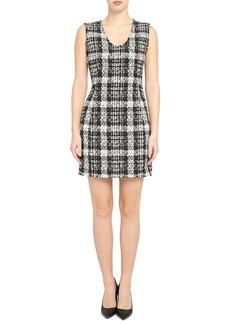 Theory Tweed Sleeveless Sheath Dress