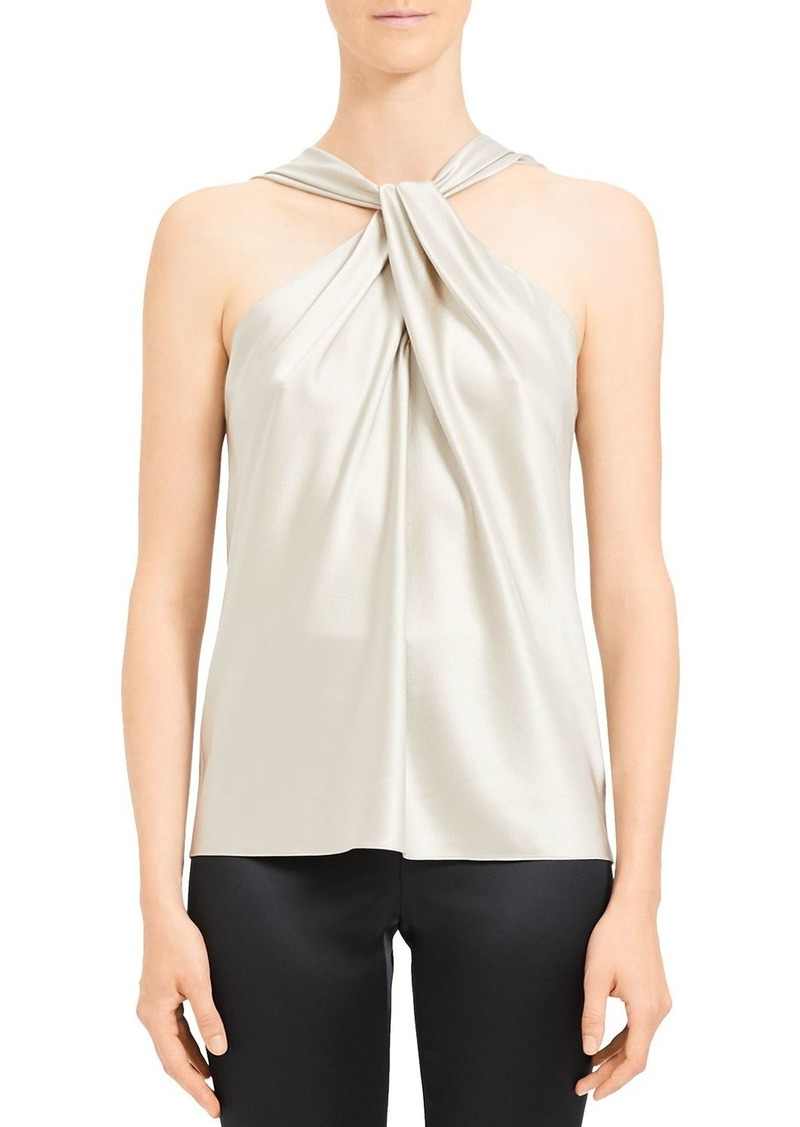 Theory Twist-Front Silk-Stretch Top