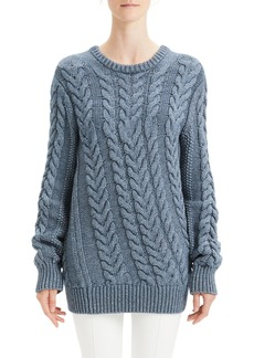 Theory Twisting Cable Crewneck Sweater