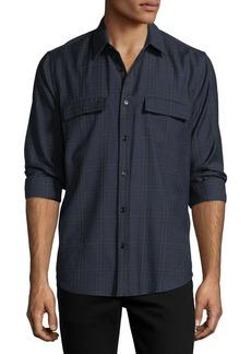 Theory Two-Pocket Plaid Sport Shirt