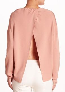 Theory Twylina Merino Wool Open-Back Sweater