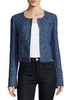 Theory Ualana Raw-Edge Tweed Jacket