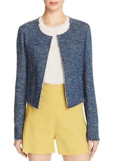 Theory Ualana Tweed Open Front Jacket