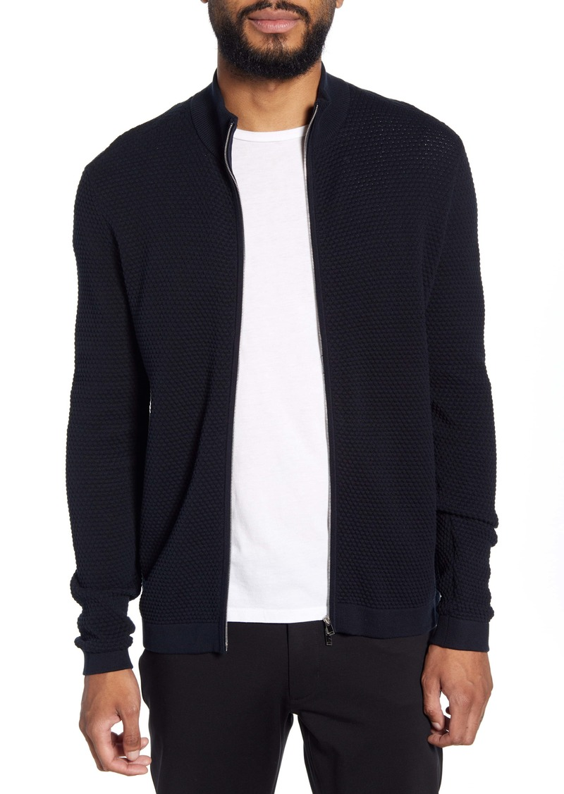 Theory Udeval Breach Regular Fit Zip Cardigan