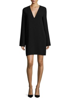 Theory Ulyssa Admiral Crepe V-Neck Shift Dress