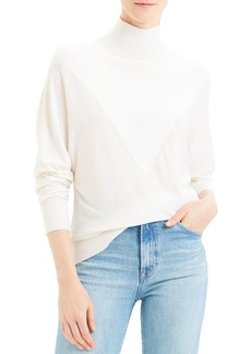 Theory V Intarsia Regal Wool Turtleneck Sweater