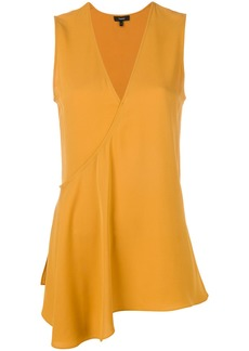 Theory v-neck asymmetric blouse - Yellow & Orange