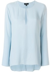 Theory tear-shaped neck blouse
