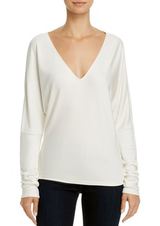 Theory V-Neck Draped Tee