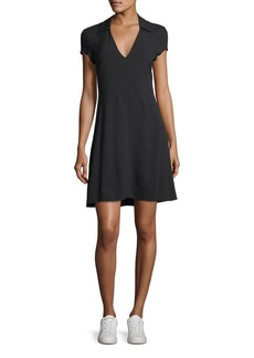 Theory V-Neck Rosina Crepe Easy Day Dress