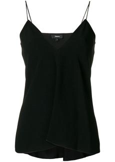 Theory v-neck spaghetti strap vest - Black