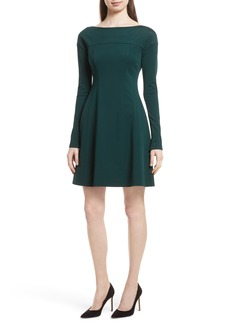 Theory Valentina Scuba Knit A-Line Dress