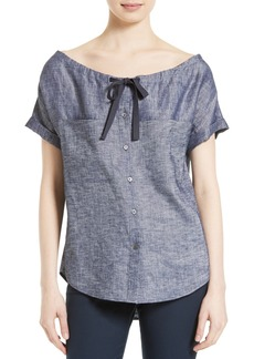Theory Velvela Tierra Wash Top