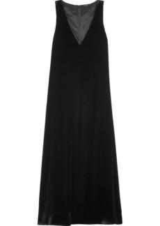 Theory Velvet midi dress
