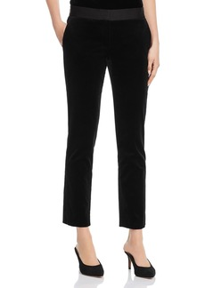 Theory Velvet Straight-Leg Pants