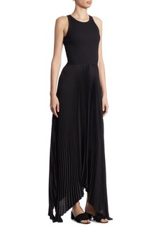 Theory Vinessi Pleated Rib Dress